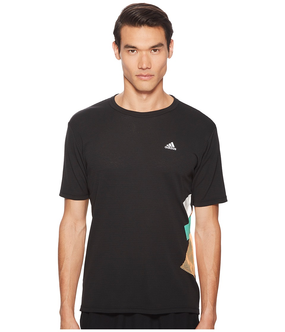 adidas x Kolor - Climachill Short Sleeve Tee (Black) Mens T Shirt