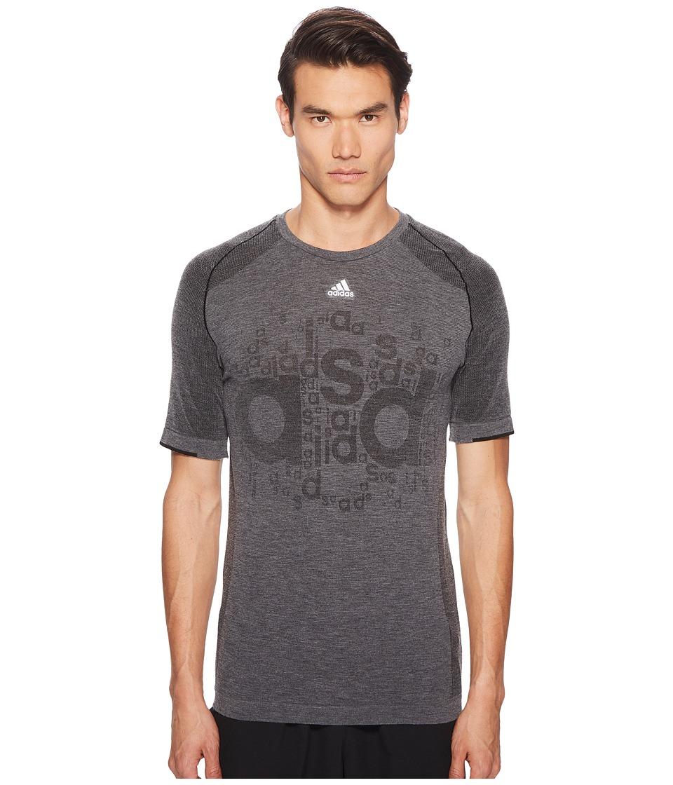 adidas x Kolor - Primeknit Tee (Black) Mens T Shirt