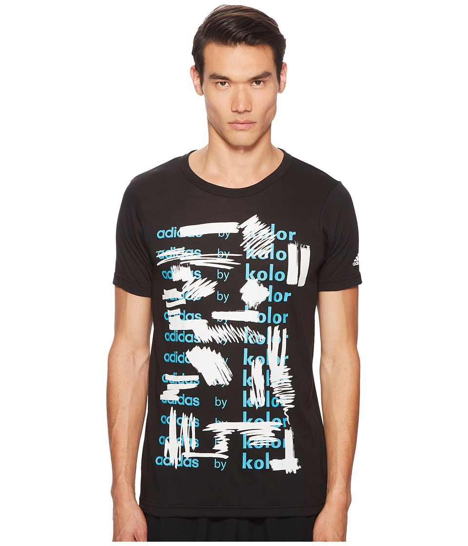 adidas x Kolor - Graphic Tee (Black) Mens T Shirt