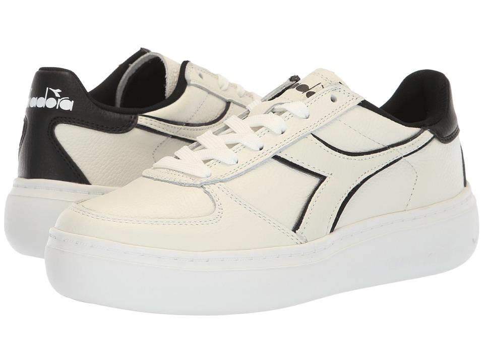 Diadora B.Elite L Platform (White/Black) Women's Shoes