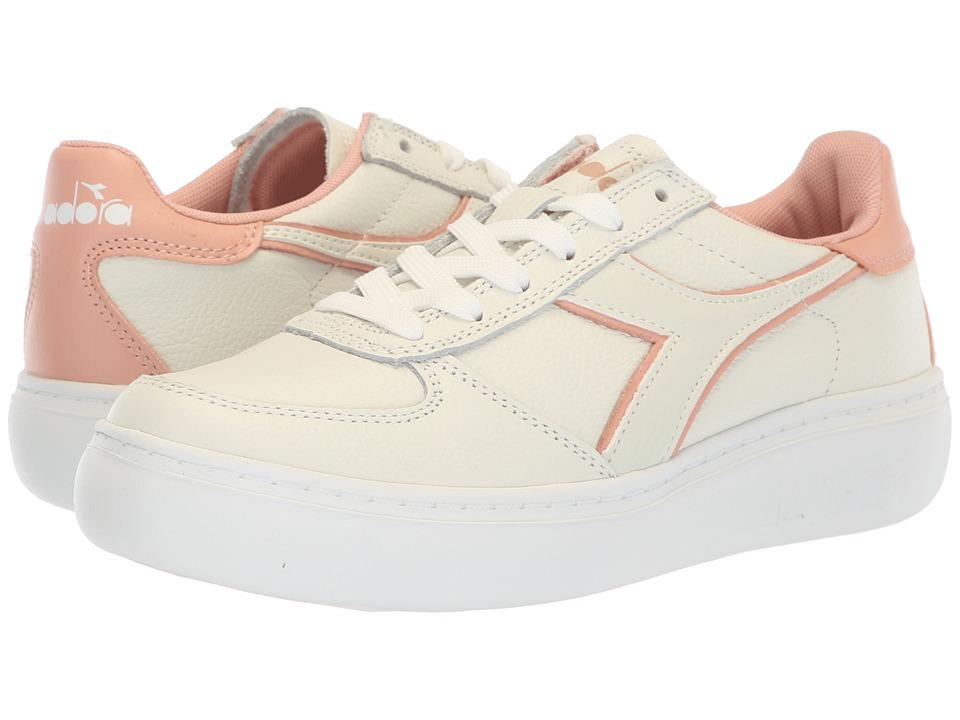 Diadora B.Elite L Platform (White/Dusty Pink) Women's Shoes