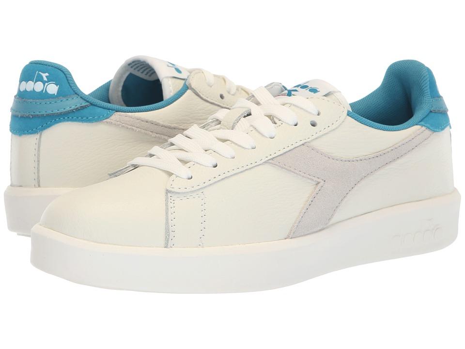 Diadora Game Wide L (White/Blue Moon) Women's Shoes