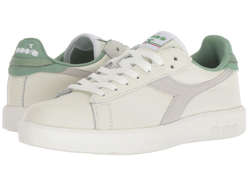 Diadora Game Wide L (White/Basil) Women's Shoes