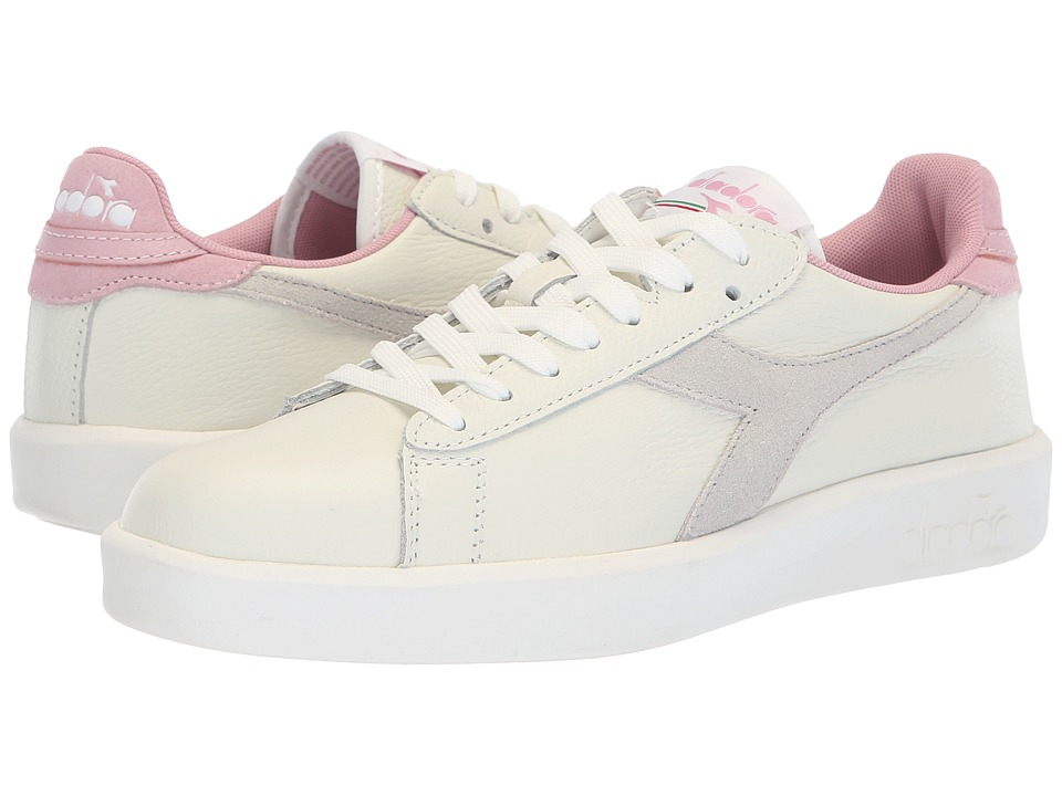 Diadora Game Wide L (White/Cameo Pink) Women's Shoes