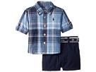 Ralph Lauren Baby Ralph Lauren Baby Linen Plaid Shirt Shorts Set (Infant)