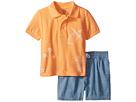 Ralph Lauren Baby Mesh Polo Chambray Shorts Set (Infant)