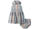 Ralph Lauren Baby Madras Shirtdress Bloomer (Infant)