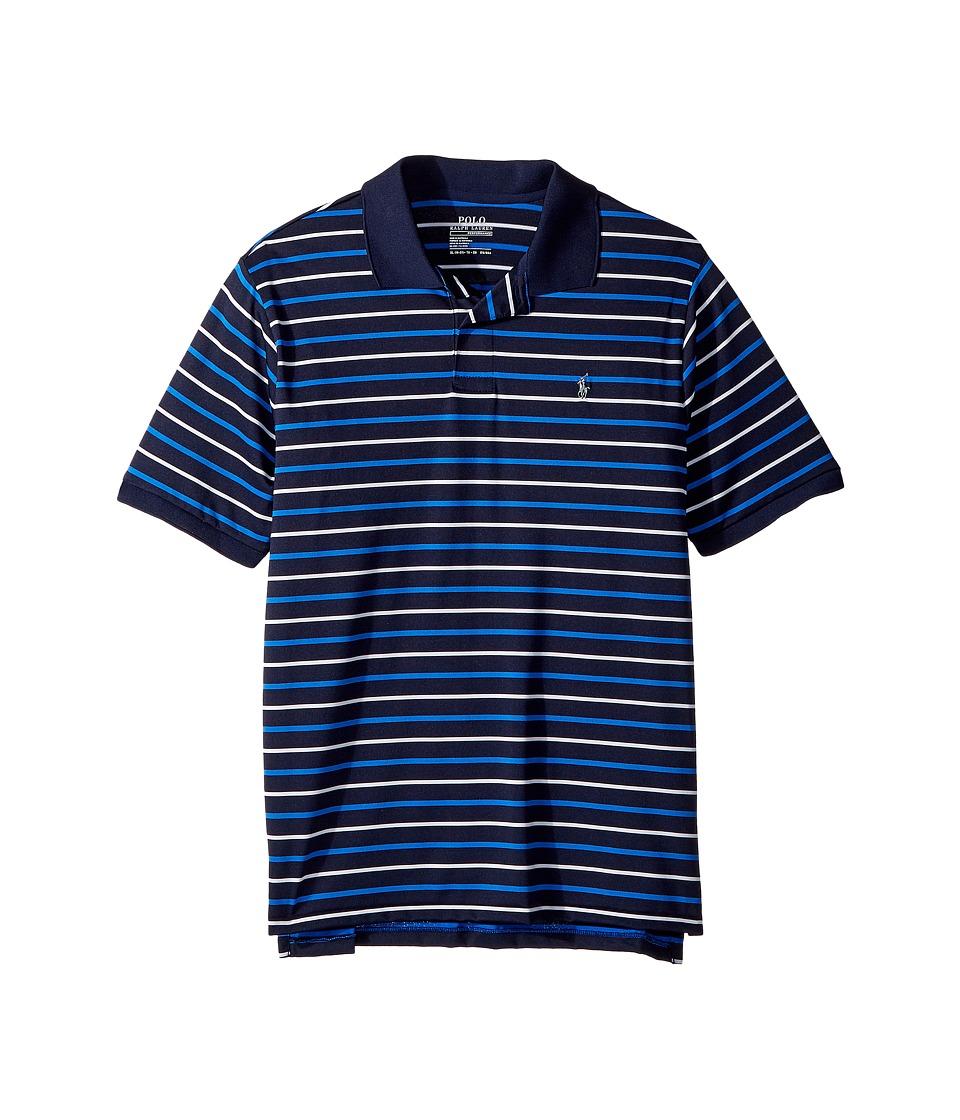 Polo Ralph Lauren Kids - Moisture-Wicking Polo Shirt (Big Kids) (Newport Navy Multi) Boys Clothing