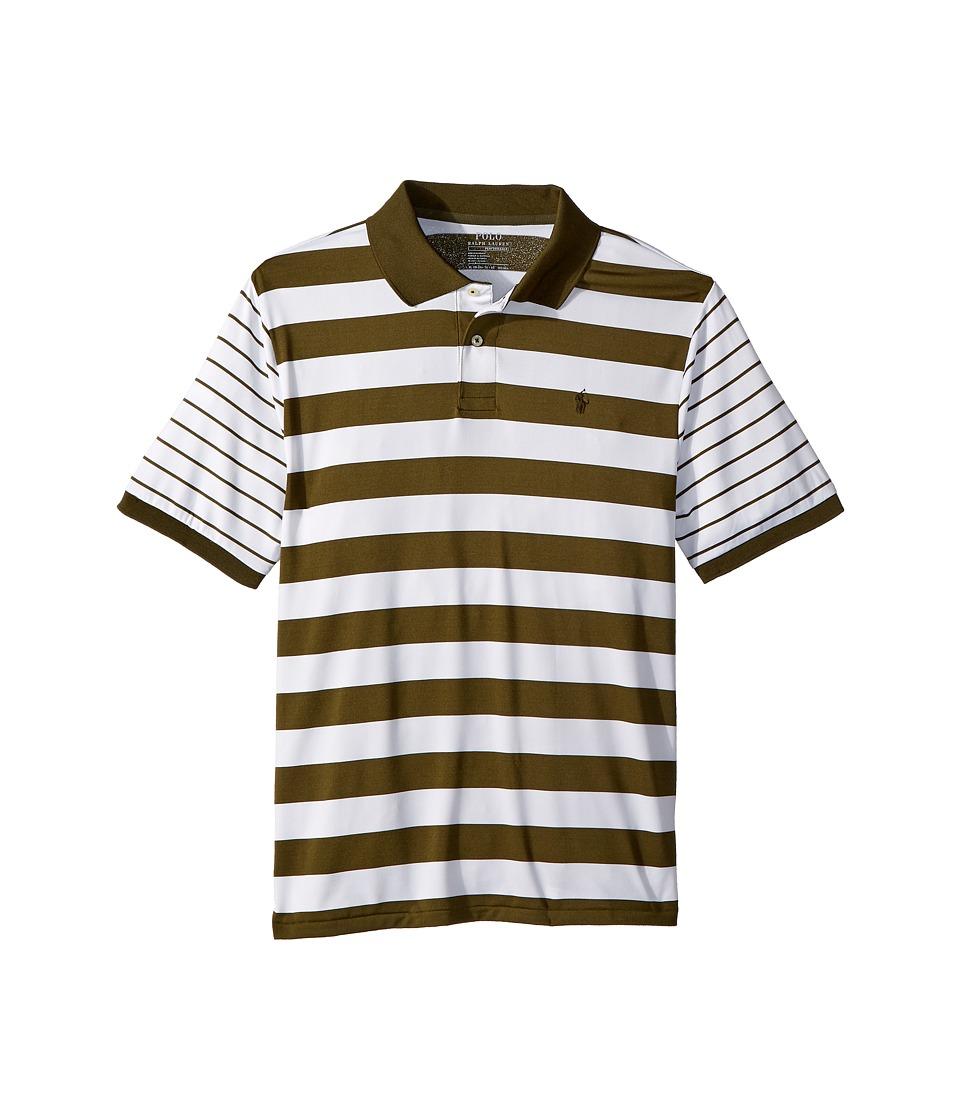 Polo Ralph Lauren Kids - Moisture-Wicking Polo Shirt (Big Kids) (Company Olive) Boys Clothing