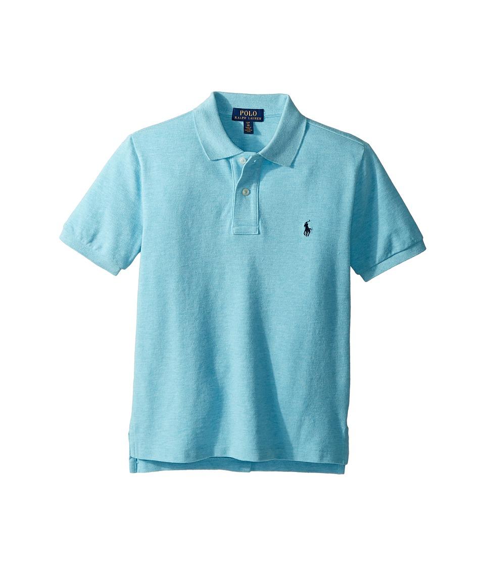 Polo Ralph Lauren Kids - Cotton Mesh Polo Shirt (Big Kids) (Beach Aqua Heather) Boys Short Sleeve Pullover
