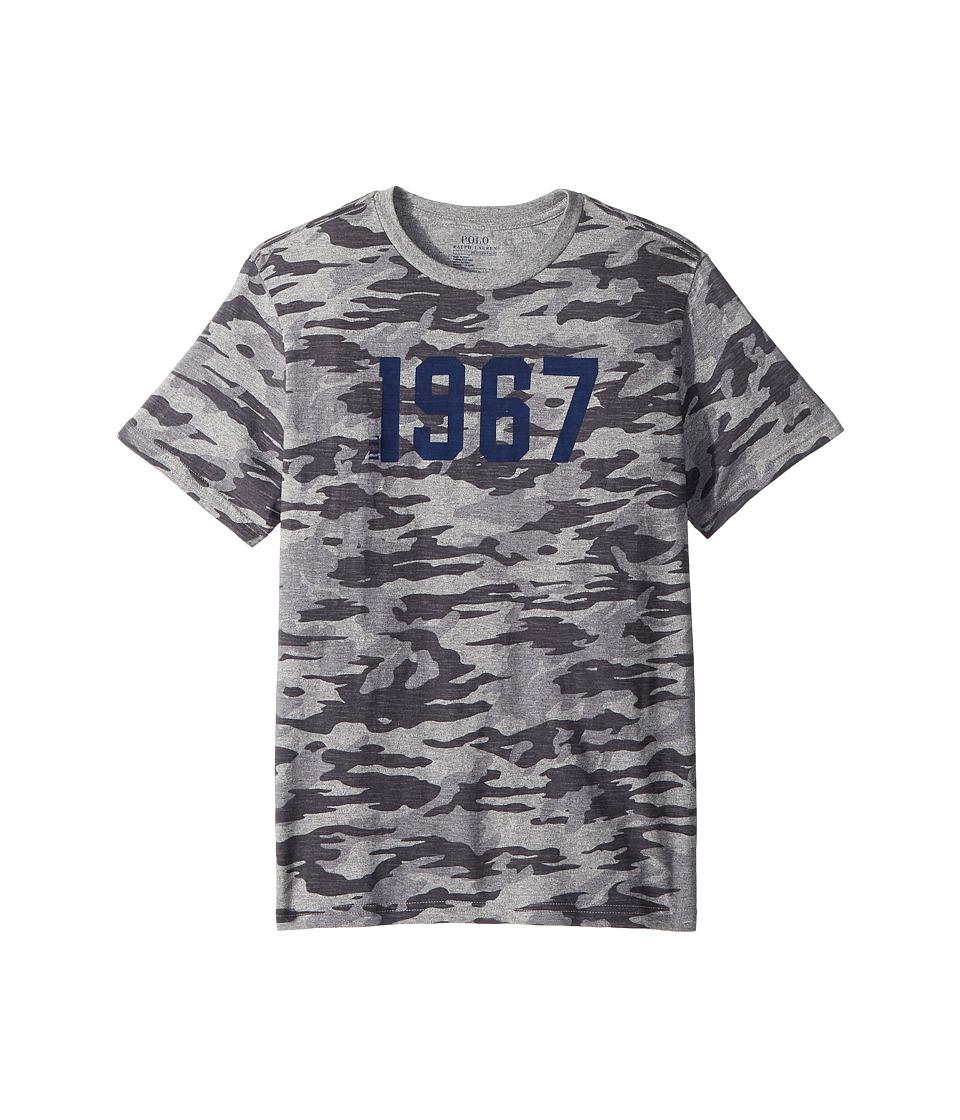 Polo Ralph Lauren Kids - Camo Cotton Jersey T-Shirt (Big Kids) (Grey Camo) Boys T Shirt