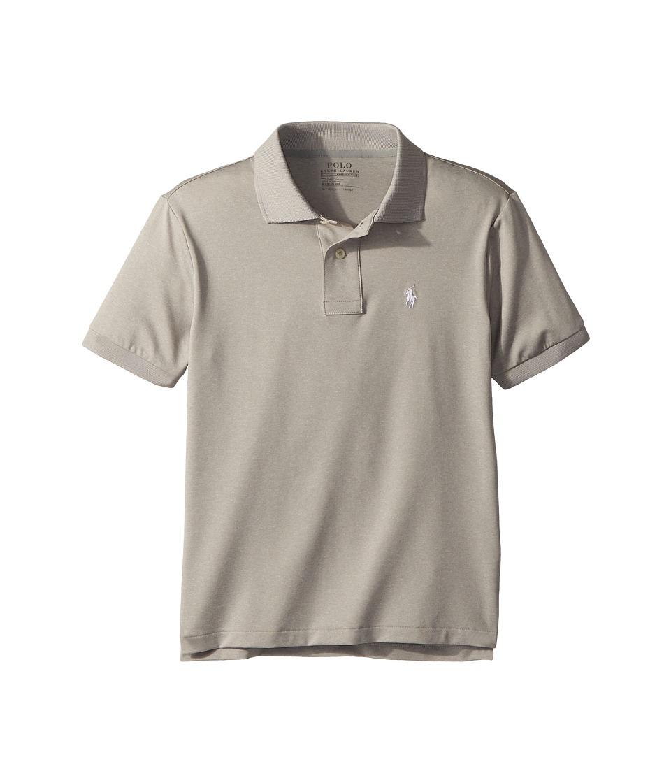 Polo Ralph Lauren Kids - Performance Lisle Polo Shirt (Big Kids) (Light Grey Heather) Boys Clothing