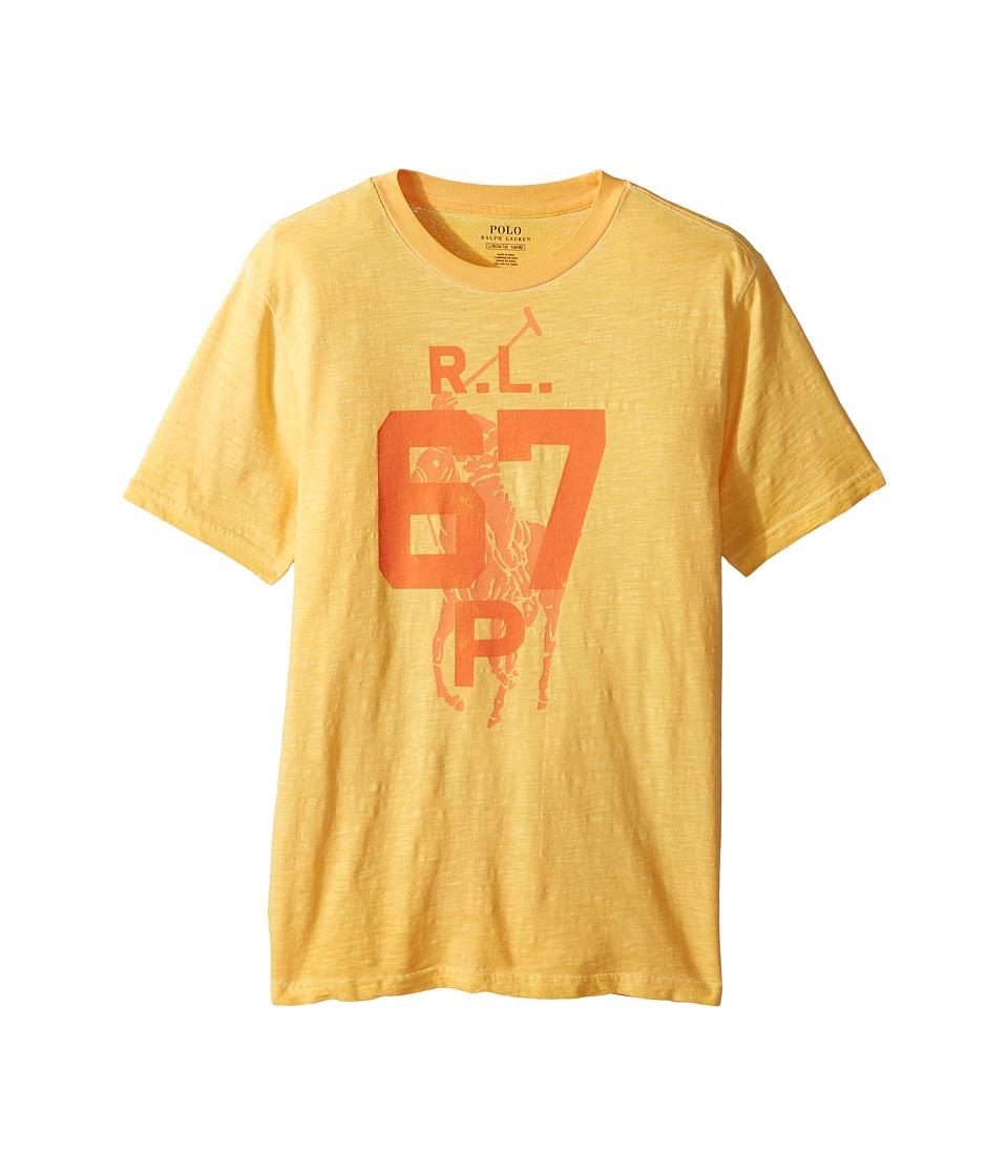 Polo Ralph Lauren Kids - Cotton Jersey Graphic T-Shirt (Big Kids) (Thai Orange) Boys T Shirt