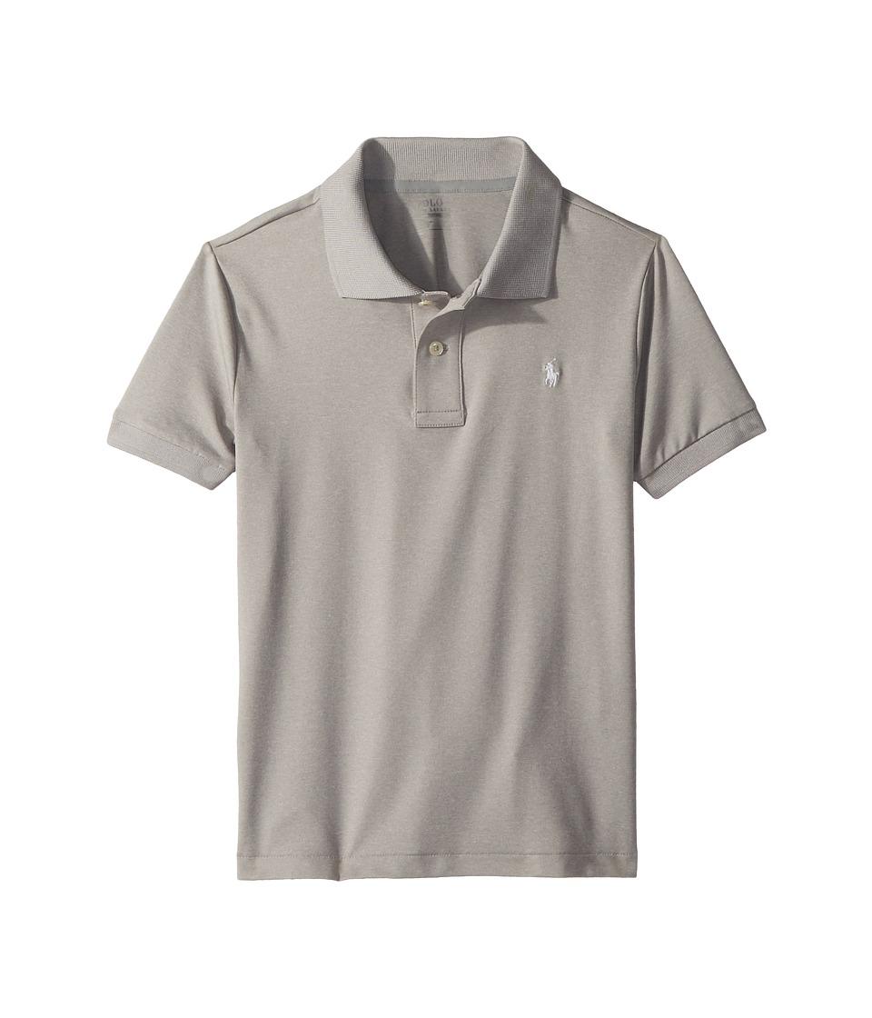Polo Ralph Lauren Kids - Performance Lisle Polo Shirt (Little Kids/Big Kids) (Light Grey Heather) Boys Clothing