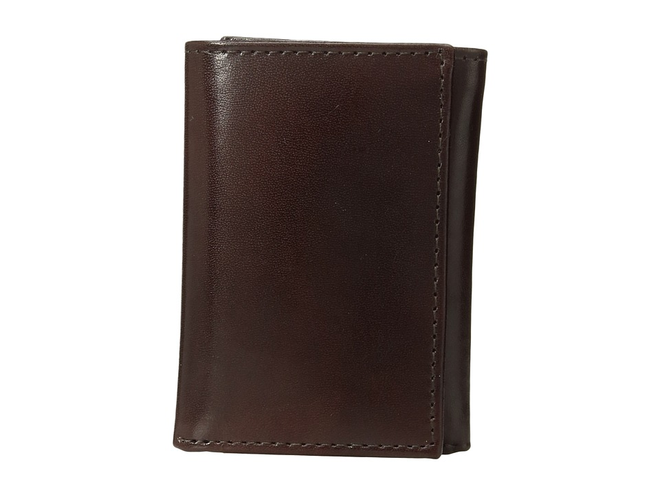 Johnston & Murphy - Trifold Wallet (Brown Smooth Leather) Wallet Handbags