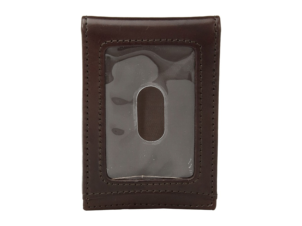 Johnston & Murphy - Two Fold Money Clip (Brown Smooth Leather) Bi-fold Wallet