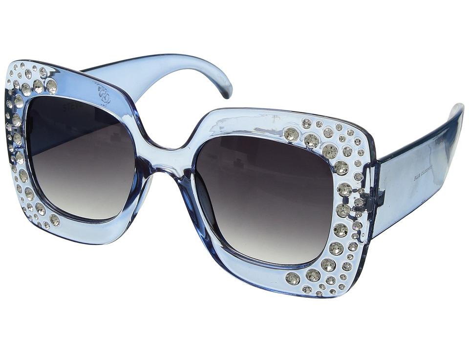 Steve Madden Bling (Blue) Fashion Sunglasses