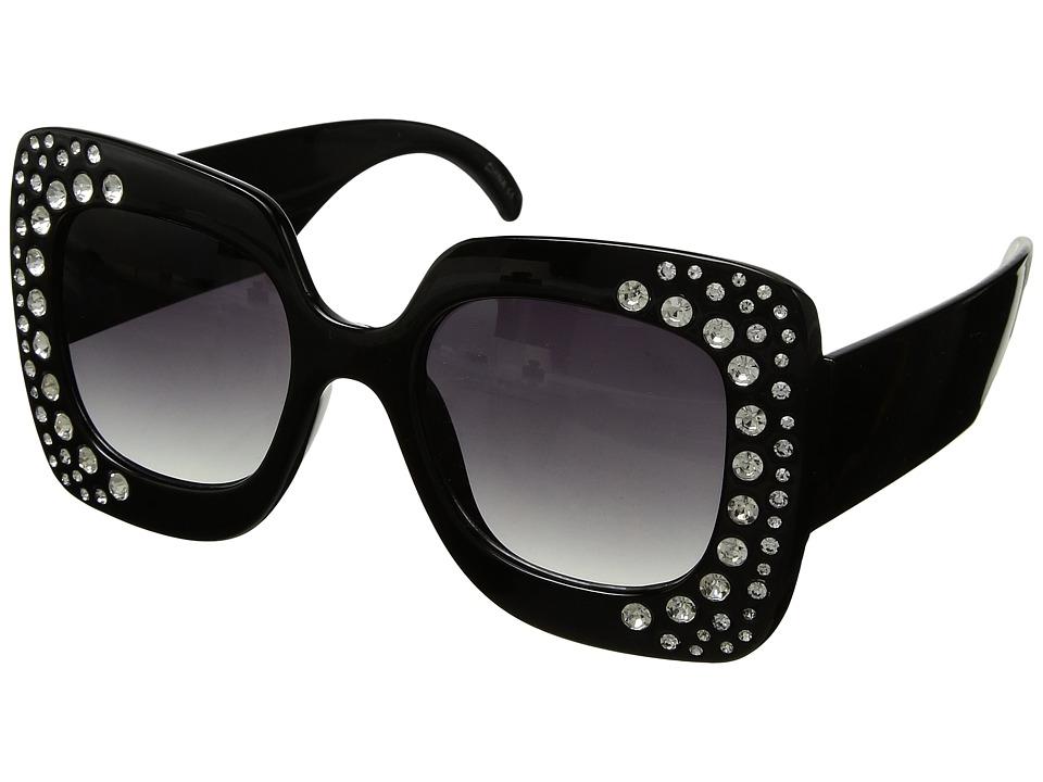 Steve Madden Bling (Black) Fashion Sunglasses