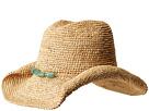 San Diego Hat Company San Diego Hat Company RHC1074 Crochet Raffia Cowboy w/ Turqoise Bead Trim