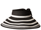 San Diego Hat Company San Diego Hat Company UBV042 Roll Up Visor with Stripe Pattern and Bow Closure