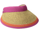 San Diego Hat Company UBV047 Visor with Contrast Color Stripe and Adjustable Back