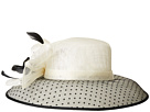 San Diego Hat Company San Diego Hat Company DRS1013 Derby Sinamay Dress Hat with Flocked Dot Brim