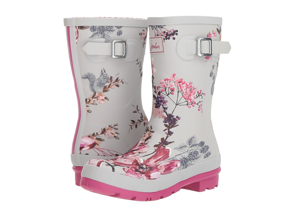 Joules Mid Molly Welly (Silver Harvest Floral) Women's Rain Boots