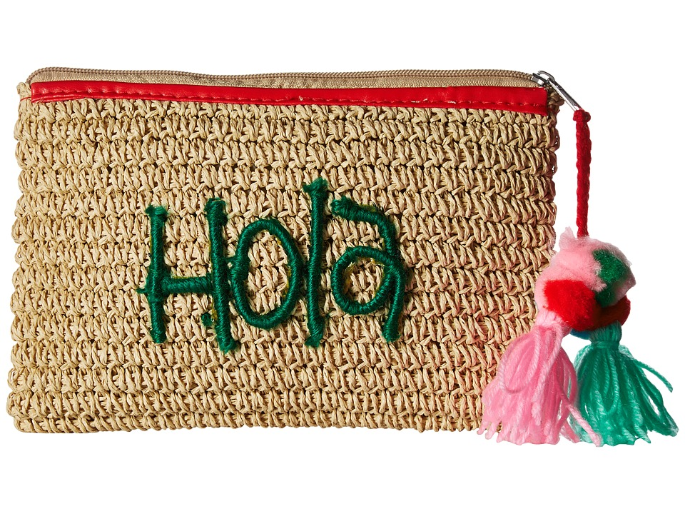 San Diego Hat Company - BSB1721 Paper Clutch with Embroidery (Natural) Clutch Handbags
