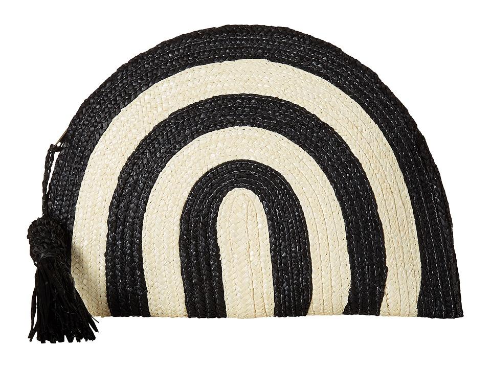 San Diego Hat Company - BSB1723 Wheatstraw Clutch Stripe with Tassel (Black) Clutch Handbags