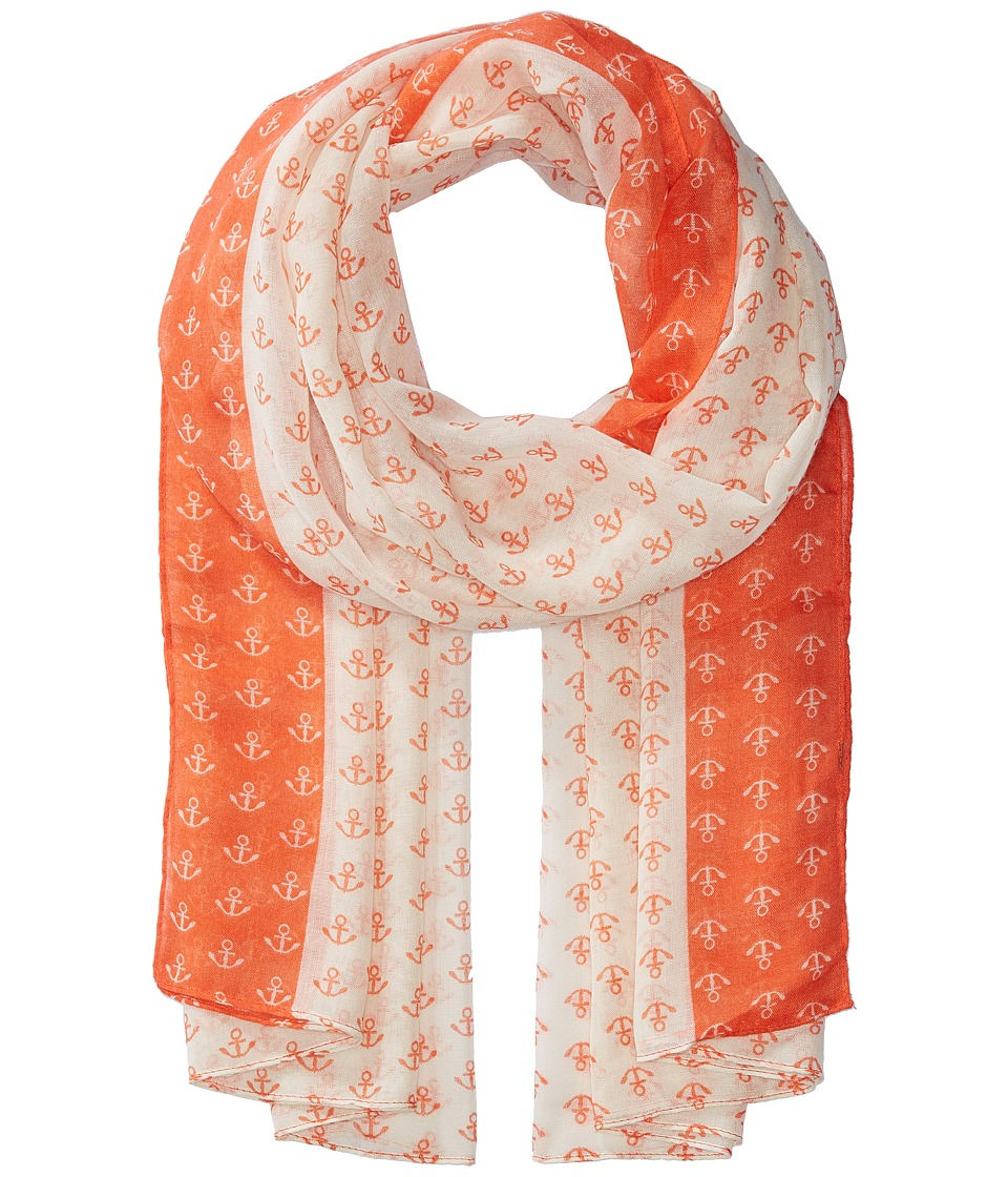 San Diego Hat Company - BSS1697 Woven All Over Anchor Print (Coral) Scarves