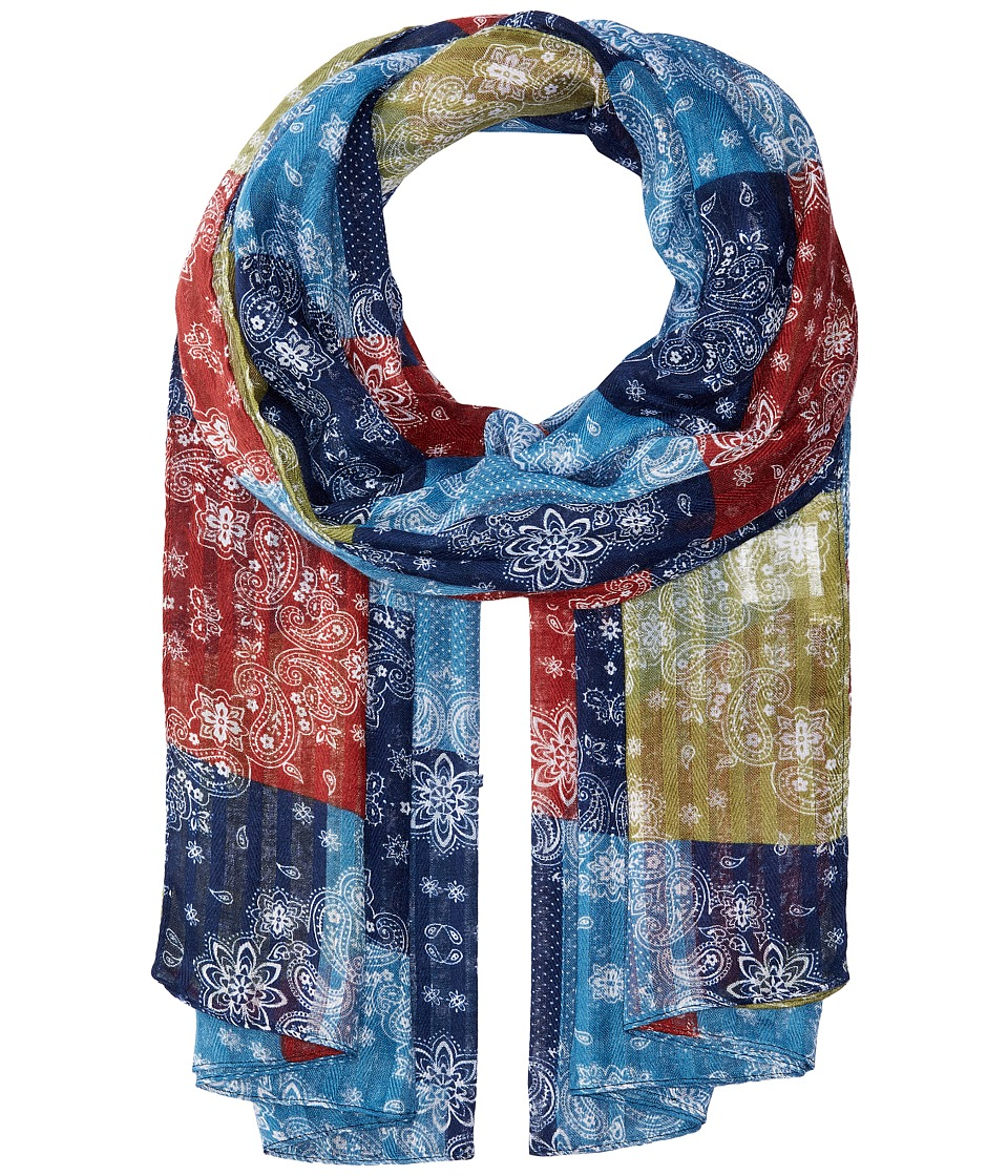 San Diego Hat Company - BSS1728 Woven Paisley Patchwork (Multi) Scarves