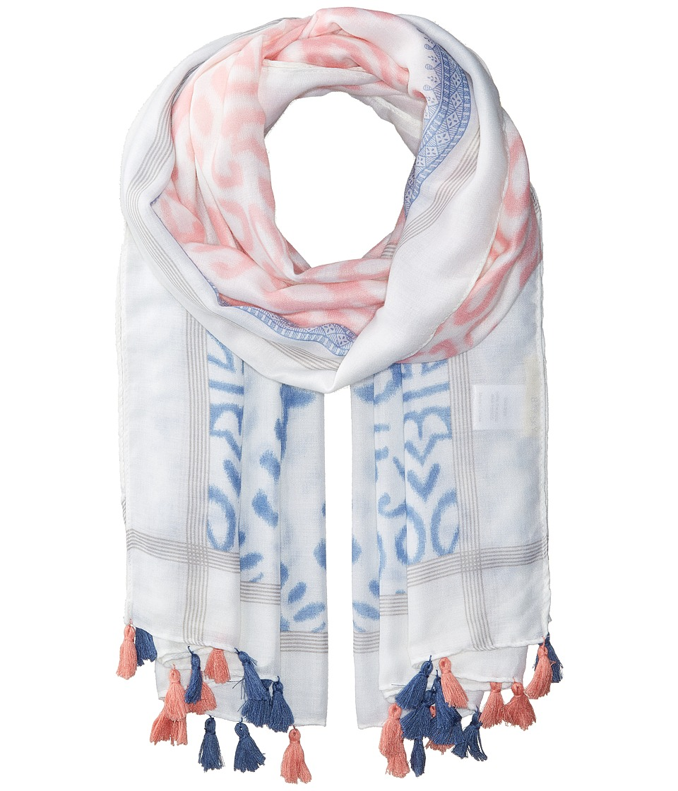 San Diego Hat Company - BSS1721 Woven All Over Print with Tassels (Pink) Scarves
