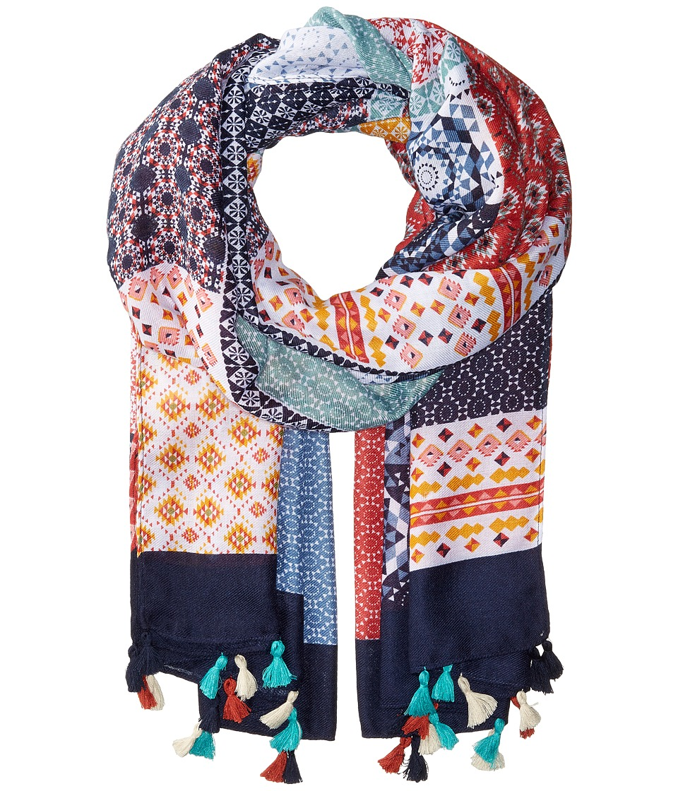 San Diego Hat Company - BSS1739 Woven Multicolor Patchwork (Multi) Scarves