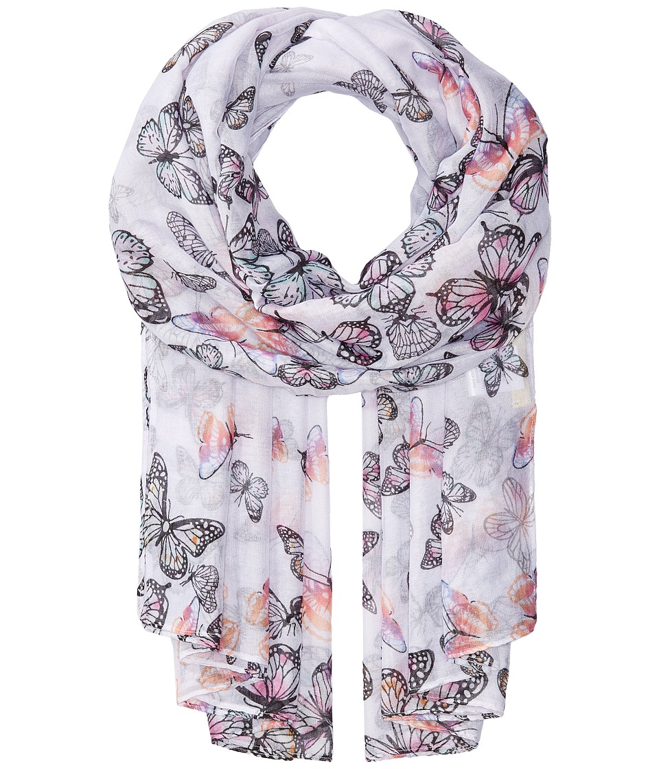 San Diego Hat Company - BSS1735 Woven Scattered Butterfly Print (Pink) Scarves
