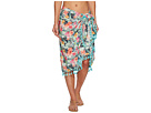 San Diego Hat Company BSS1814 Woven Tropical Print Sarong Cover-Up