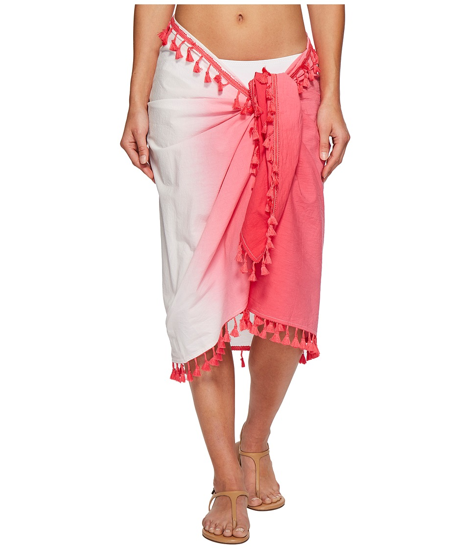 San Diego Hat Company - BSS1812 Woven Dip-Dye Sarong Cover-Up (Pink) Scarves