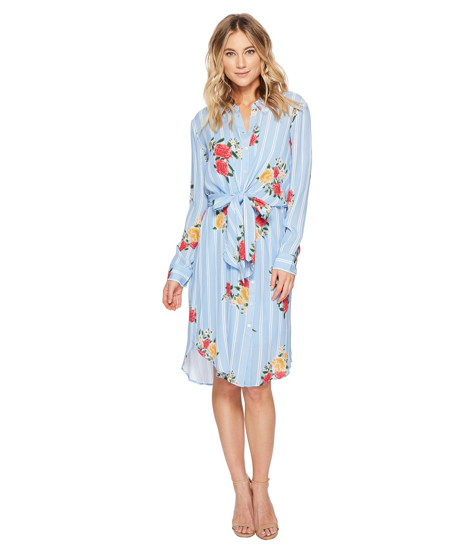 Adelyn Rae - Iris Shirtdress (Azure Blue Multi) Womens Dress