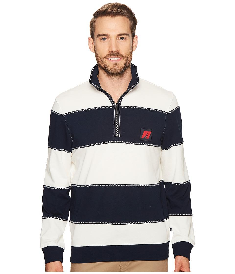 Nautica Long Sleeve 1/2 Zip Pullover Sweater (Marshmallow) Men