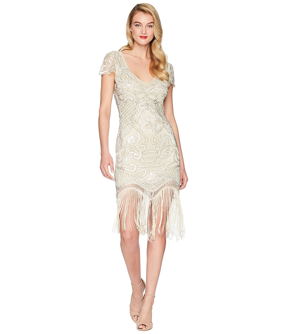 UniqueVintage Aurore Flapper Dress (Champagne) Women\'s Dress from ...