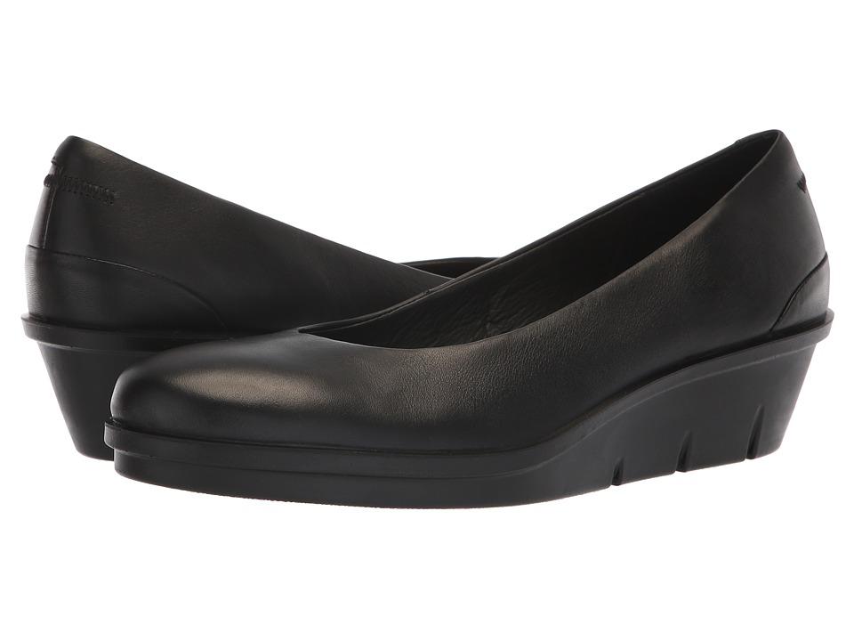 ECCO Skyler 45 Wedge Slip-On (Black Cow Leather) Wedges