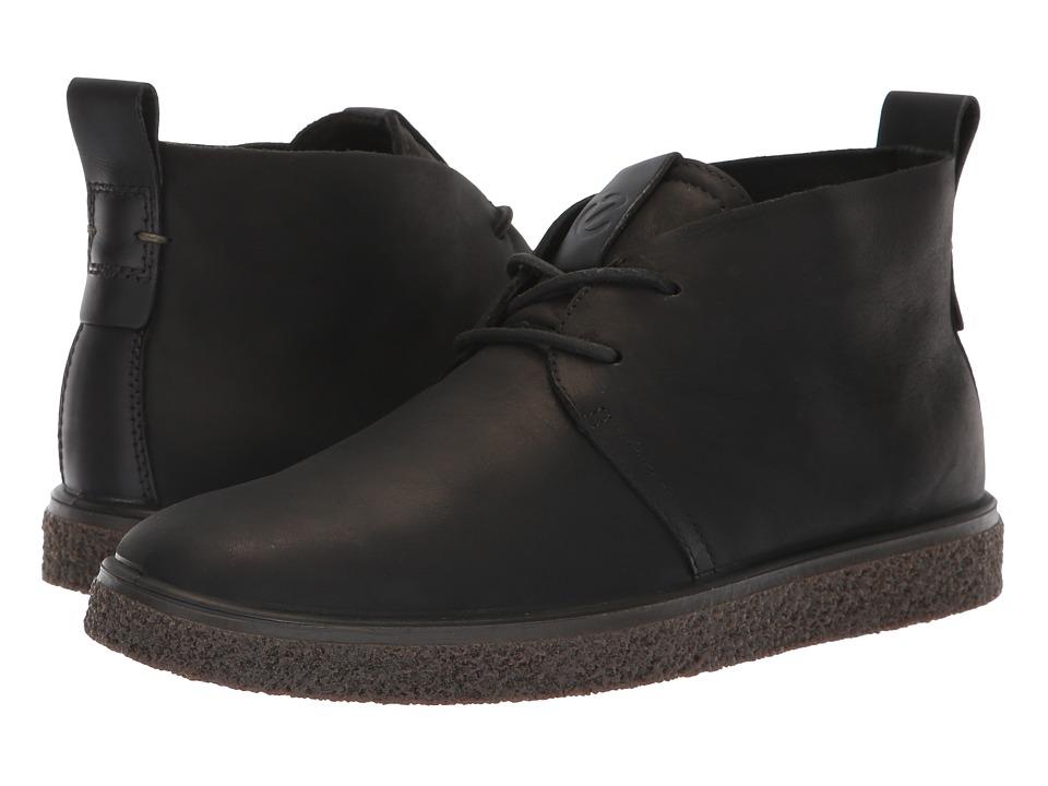 ECCO Crepetray Bootie (Black Nubuck Leather)