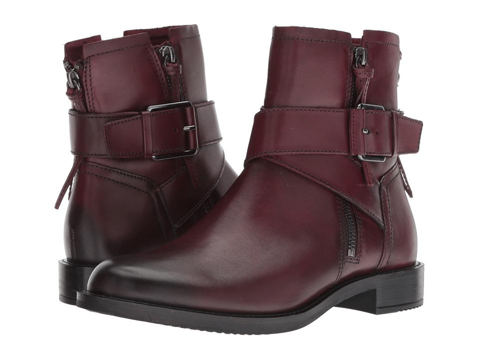 ECCO Shape 25 Buckle Boot (Bordeaux Full Grain Leather) Women's  Boots