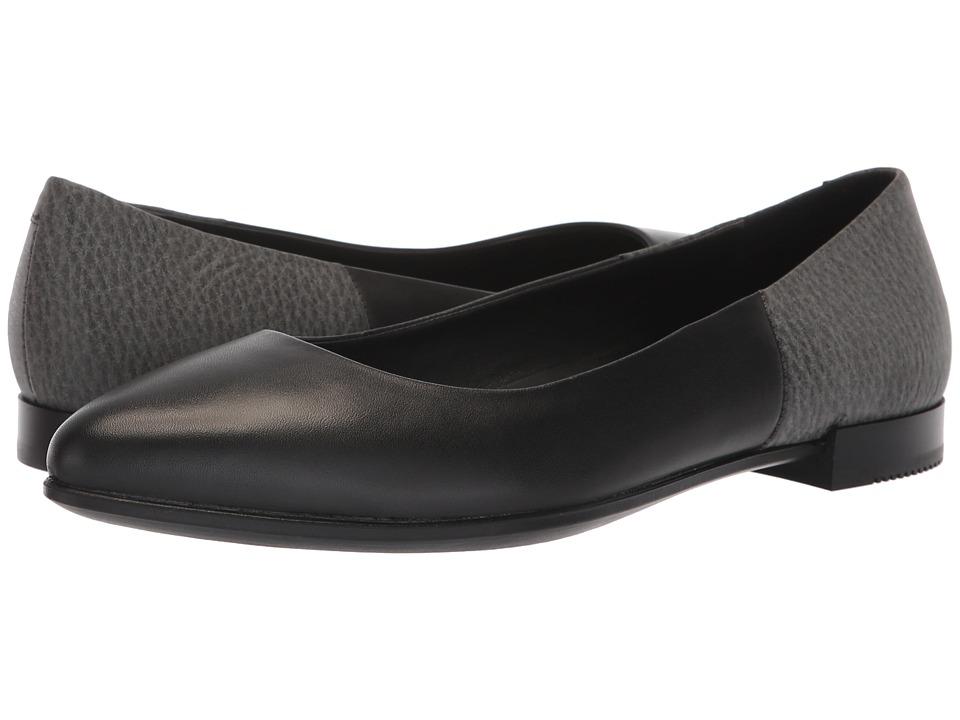 ECCO Shape Pointy Flat (Black/Black) Flats