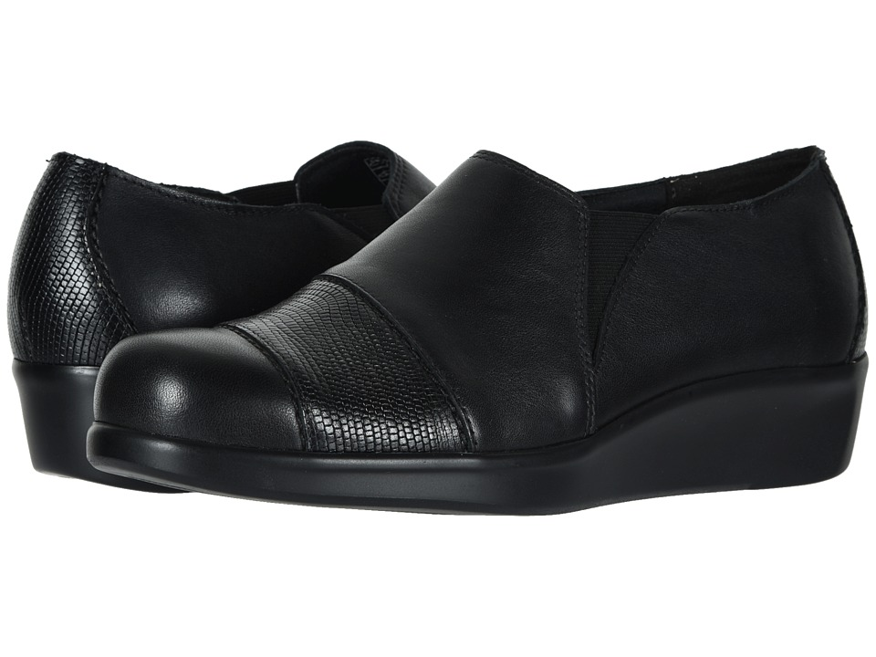 SAS Nora (Black/Lizard) Slip-On Shoes