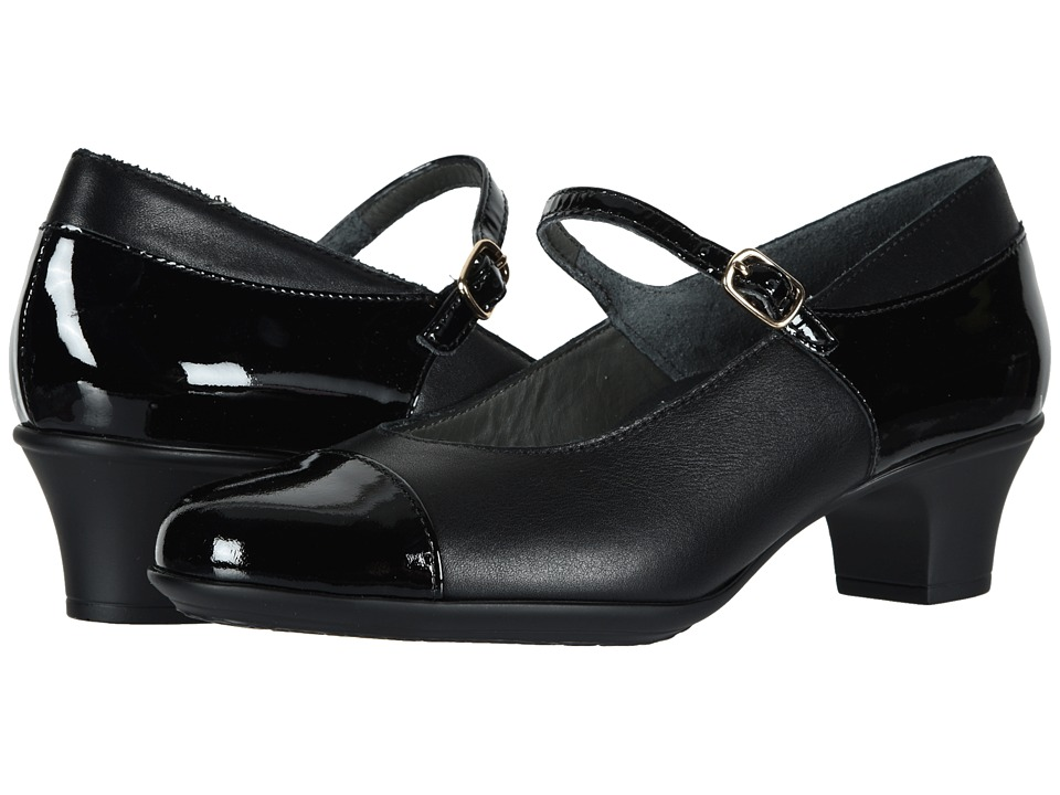 SAS Isabel (Black/Black Patent) Women's Shoes