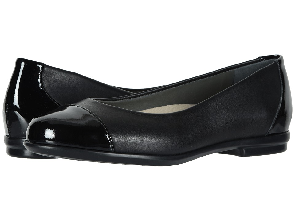 SAS Scenic Cap Toe (Black/Black Patent) Women's Shoes