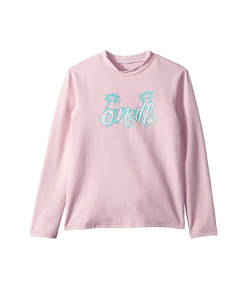 ONeill Kids - Skins Long Sleeve Rash Tee (Infant/Toddler/Little Kids) (Pink) Girls Swimwear