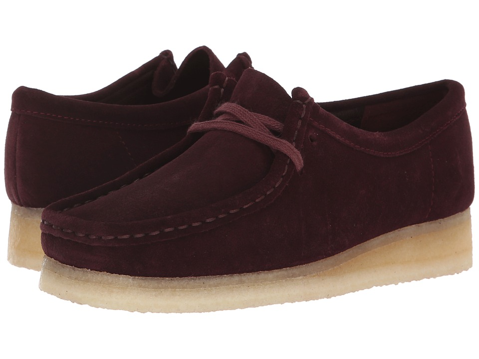 Clarks Wallabee (Burgundy Suede 1)