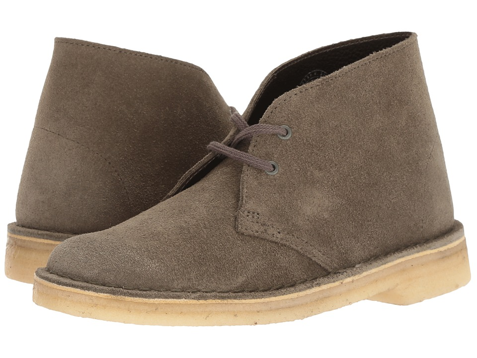 Clarks Desert Boot (Olive Suede) Women's Lace-up Boots