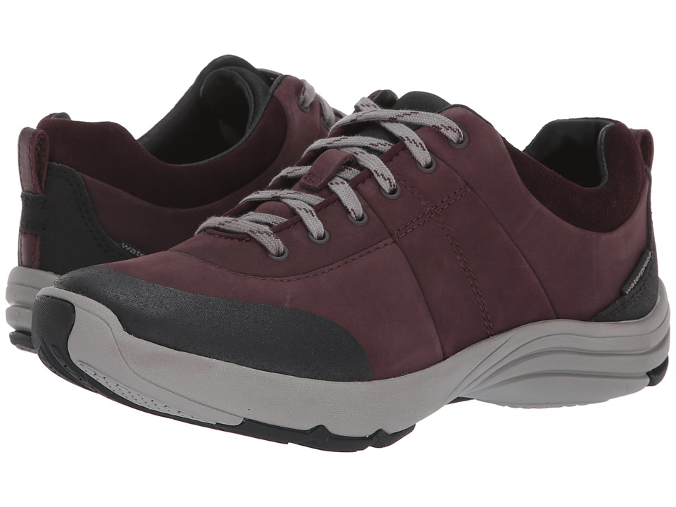 Clarks Wave Andes (Aubergine Nubuck) Women's Shoes